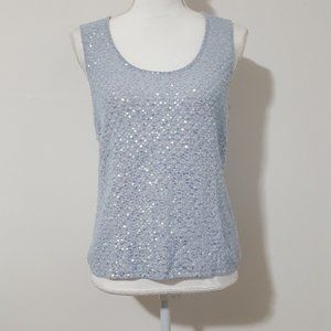 Saks Fifth Avenue Cashmere Sequined Top Large NWOT